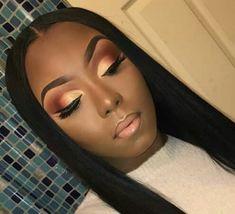 38 Eyeshadow Makeup Tips Ideas For Black Women - Makeup Looks 💄 Prom Makeup, Cute Makeup, Girls Makeup, Gorgeous Makeup, Bridal Makeup, Wedding Makeup, Makeup Looks, Hair Makeup, Eyelashes Makeup