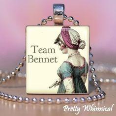 Team Bennet - Pride and Prejudice - Scrabble Tile Pendant