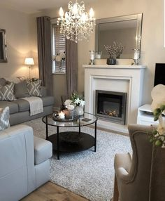 Living room goals 😍 Comment if you agree! Cottage Living, Home Living Room, Living Room Designs, Living Room Decor, Living Room Inspiration, Home Decor Inspiration, Decor Ideas, Budget Home Decorating, Home Improvement Loans