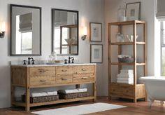 Simple, classic bathroom    [Source: Restoration Hardware Spring 2013 Catalog]