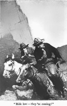 Buddies in the Saddle: Illustrators of early frontier fiction:Frank E. Schoonover - G. W. Ogden, The Rustler of Wind River (1917)