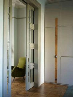 Sliding mirrored doors