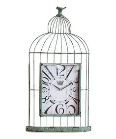 Look at this Sage Birdcage Clock on #zulily today!