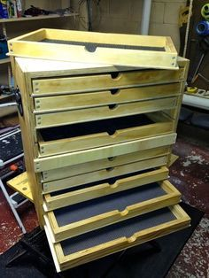 diy plywood rolling tool case with telescoping handle and drawers - Recherche Google