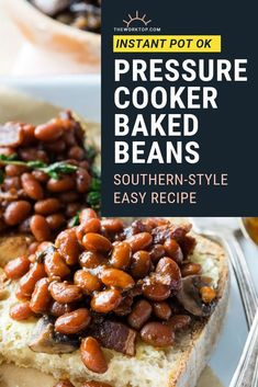 These Pressure Cooker Baked Beans cook to be thick, rich, and savory with a hint of sticky sweetness from the molasses and brown sugar. Breakfast For A Crowd, Egg Recipes For Breakfast, Savory Breakfast, Brunch Recipes, Breakfast Buffet, Savoury Recipes, Brunch Ideas, Breakfast Ideas, Pressure Cooker Baked Beans