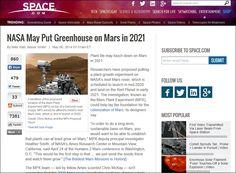 火星のテラフォーミングにも関与する火星での植物育成実験をNASAが開始予定 - GIGAZINE