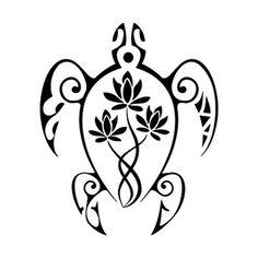 tatuaggio tartaruga maori con rosa.jpg (380×380)