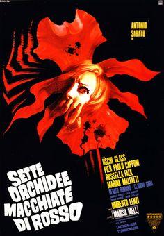 """Seven Blood Stained Orchids (1972) """"Sette orchidee macchiate di rosso"""" (original title) Stars: Antonio Sabato, Uschi Glas, Pier Paolo Capponi, Renato Romano ~ Director: Umberto Lenzi"""