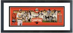 "San Francisco Giants 2014 World Series Champions - 18.5"" x 42.5"" Framed Photoramic"