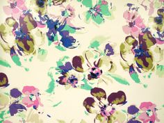 Fancy viscose print, flowers, multicolour, 142-144cm 501981-3 - Fabric and sewing materials at fabric-dreams.co.uk