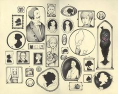 all the pictures on the wall by andrea joseph's illustrations, via Flickr