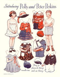 Daughter of the Great Depression: Polly and Peter Perkins paper dolls