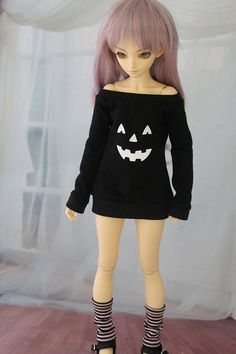 Minifee Jack O Lantern Shirt BJD Clothes MNF by guppykisses, $9.99