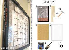 shadow box dry erase board calendar