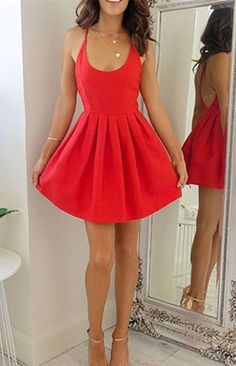 Homecoming Dresses,Prom Dresses Short,Cheap Homecoming Dress,Short Prom Dress,Sexy Homecoming Dress,Fashion Gowns Prom,Dresses for Teens,Prom Gowns,Graduation Dress,Short Red Homecoming Dress, Cheap Prom Dress Short, Fashion Cute A-line Homecoming Dress, Graduation Dresses for Teens, Party Dress with Criss Cross Back