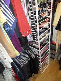 Elfa-system:  walk-in closet left side