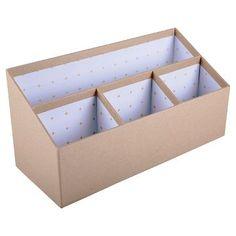 hang on wall - Room Essentials™ Kraft Desktop Organizer : Target Diy Cardboard Furniture, Cardboard Box Crafts, Desk Organization Diy, Diy Desk, Decorative Storage Boxes, Diy Storage, Diy Crafts Hacks, Diy Home Crafts, Diy Karton