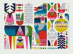 images for nordstrom christmas Christmas Deco, Christmas Design, Christmas Poster, Scandinavian Folk Art, Christmas Graphics, Christmas Illustration, Pattern Illustration, Print Patterns, Creations