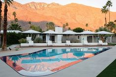 With his chic new L'Horizon Resort and Spa, Los Angeles designer Steve Hermann delivers the high-style retreat that Palm Springs has been craving Palm Springs Hotels, Hotel California, Southern California, Palm Springs Mid Century Modern, Hotel Restaurant, Coachella Valley, Travel And Leisure, Architectural Digest, Houses
