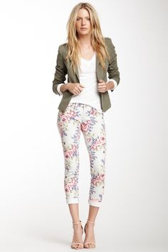 Floral Print Ankle Pant <3 floraaaaaaalllllllllllllllllllllllllllllllllllllllllllllll