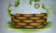 pintura em tecido passo a passo cesta