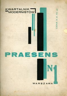 Polish avant-garde and typo -- Praesens no.1