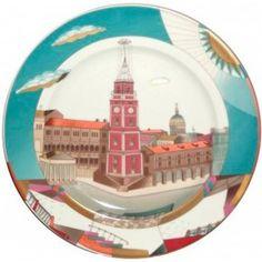 Nevsky Prospect in the Evening Sun Decorative Plate