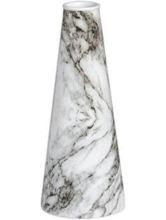 Hill Interiors Marble Effect Ceramic Flower Vase (One Size) (White/Gray) ❤ ...