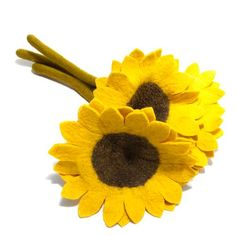 ec8630a1002 Fair Trade Felt Sunflower. Big   beautiful Wool Art