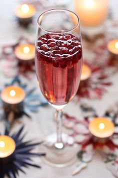 Sparkling Pomegranate Champagne - Perfect for a New Years Eve toast!