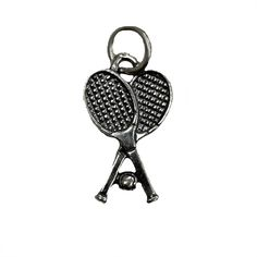 Sterling silver tennis racquets charm!