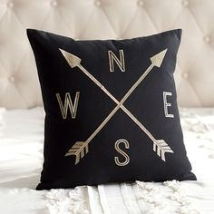 The Emily + Meritt Compass Pillow Cover | PBteen