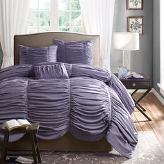 Home Essence Pacifica Lilac Purple Bedding Comforter Set