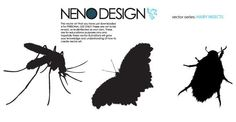 Insects Silhouettes Free Vector Image