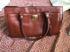 coach legacy chelsea carryall bag camel leather used