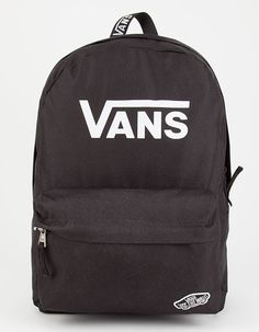 VANS Sporty Realm Backpack Black Nylon Anti-theft Water-resistant Backpack, with stylish and chic design, goes well with any occasions, you will feel comfortable to carry it. Vans Backpack Girls, Vans Old Skool Backpack, Backpack For Teens, Mini Backpack, Black Backpack, Backpack Bags, Leather Backpack, Trendy Backpacks, Men's Backpacks