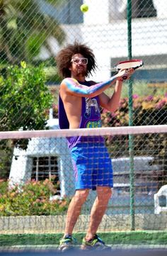 Redfoo from LMFAO Plays Tennis?