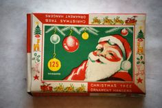 Vintage Christmas Ornament Hangers Graphic Box by millesimedesigns