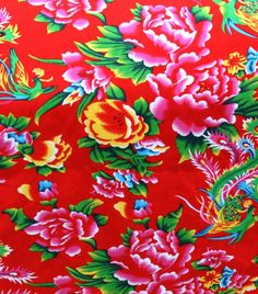 TISSU TRADITIONNEL CHINOIS ROUGE