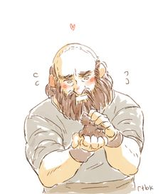 Dwalin and baby raven.