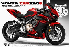 : Design Consept Graphic Kit for 2019 Honda Cbr 600, Street Motorcycles, Honda Motorcycles, Honda Sport Bikes, Football Design, Sport Football, Custom Sport Bikes, Suzuki Motorcycle, Motosport