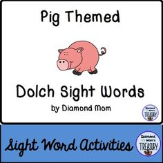 This set includes all 220 Dolch words and is in both color and black and white. It was inspired by the Chinese New Year zodiac. It can be played anytime.Pig Sight Word Memory GameThe game is played as a typical memory game. You will need to make 2 copies of each sheet in order to do the matching.Pig Sight Word Flash CardsUsing the same templates, practice the sight words in pairs or in sets.