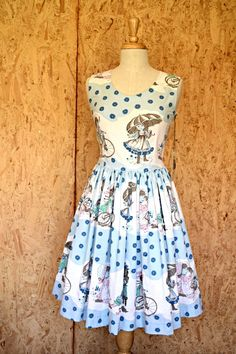 Holly Hobbie womans dress vintage style READY TO SHIP Size 10