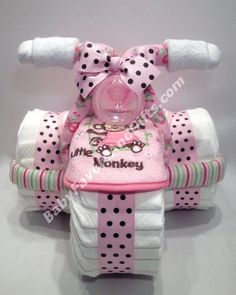 Pink for girls tricycle diaper cake babyfavorsandgift… - Baby Diy - Pink for girls tricycle diaper cake babyfavorsandgift … - Fiesta Baby Shower, Baby Shower Niño, Baby Shower Diapers, Girl Shower, Baby Shower Cakes, Baby Showers, Baby Shower Parties, Shower Party, Tricycle Diaper Cakes