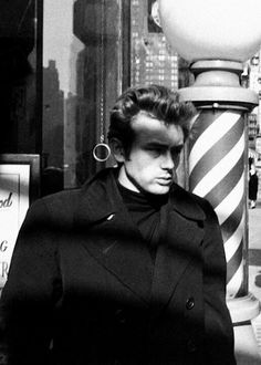 James Dean photographed by Dennis Stock in NYC 1955