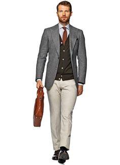 Jacket Grey Plain Washington C690i   Suitsupply