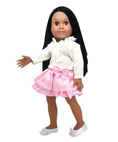 Another great find on #zulily! Sweater & Skirt Outfit for 18'' Doll #zulilyfinds
