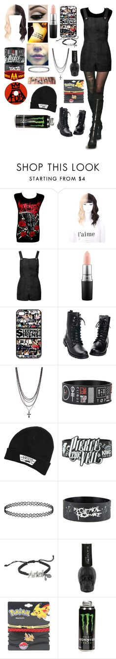 """""""crawling from hell,fallen from grace and there is nothing left to take.leaving the past to the grave.so we can reincarnate"""" by kittenjade ❤ liked on Polyvore featuring Topshop, MAC Cosmetics, Vans and Disney"""