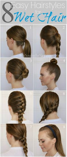 8 Easy Hairstyles For Wet Hair Hair Hair Hair Styles Curly with regard to proportions 600 X 1403 Quick Hairstyles For Wet Curly Hair - Having curly Fast Hairstyles, Easy Hairstyles For Long Hair, Pretty Hairstyles, Beach Hairstyles, Running Hairstyles, School Hairstyles, Wet Hair Hairstyles, Simple Hairdos, Swimming Hairstyles