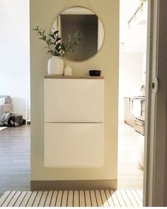 Every place needs an entryway, regardless of how small the space is. I created one with these affordable #ikea Trones shoe cabinet. I love how it turned out!  #ikeainspo #ikeahack #ikeacanada #ikea #entrywaydecor #entryway #decoratingideas #showmeyourstyled #decor #interiors #instahomeflavor #apartmenttherapy #decorcrush #homedecor #apartmentliving #makingahouseahome #simplystyleyourspace #interior123